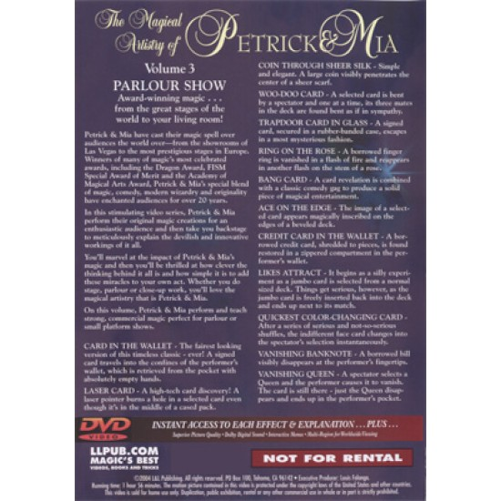 Magical Artistry of Petrick and Mia Vol. 3 by L and L Publishing - Goochel DVD